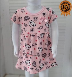 Vestido Infantil Em Malha Estampado