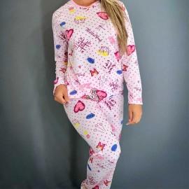 Pijama Feminino Longo Estampado