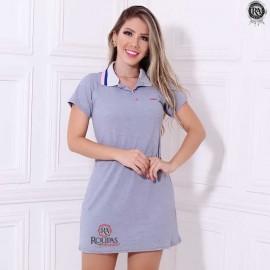 Vestido Gola Polo Feminino Adulto