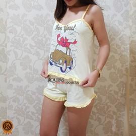 Baby Doll Feminino Adulto Malha