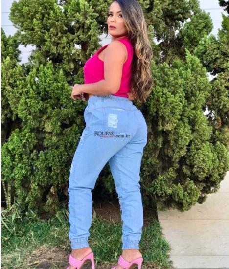 Calça Jogger Feminina Jeans