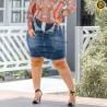 Saia Jeans Lipo Com Cinta Modeladora