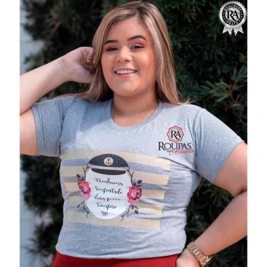 Blusa Tshirts Algodão Plus Size