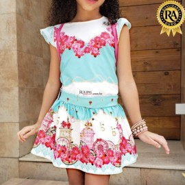 Conjunto Saia E Blusa Infantil Princesas