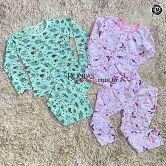 Pijama Manga Longa Infantil Estampado