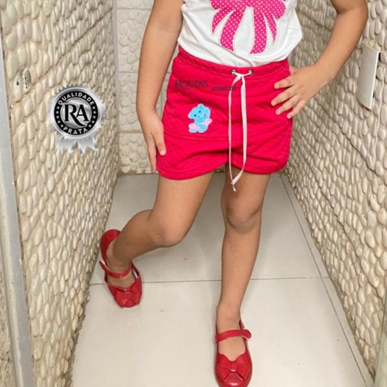 Short Saia Infantil Em Matelassê