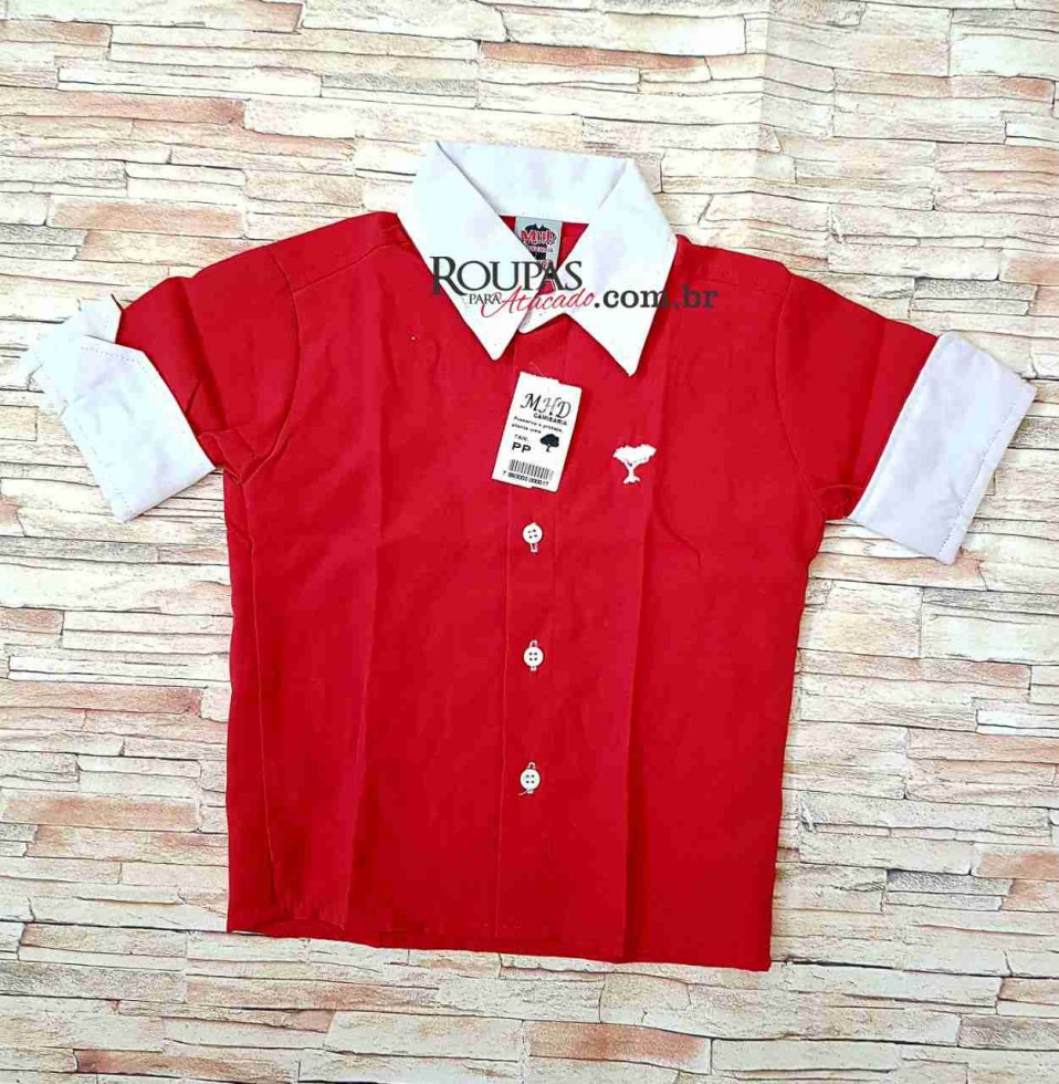 Camisa Social Infantil 3 4 Lisa 1 a 8 anos - Roupas Para Atacado a6bade1a9df