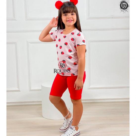 Conjunto Infantil Blusa E Short Lara
