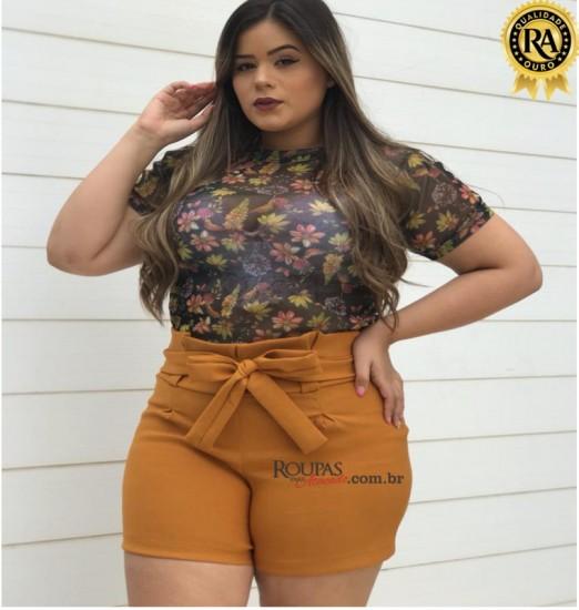 Short Feminino Plus Size Bengaline