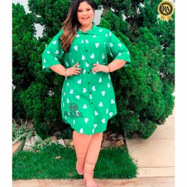 Vestido Chemise Viscose Plus Size