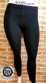 Calças Legging Plus Size Em Cotton