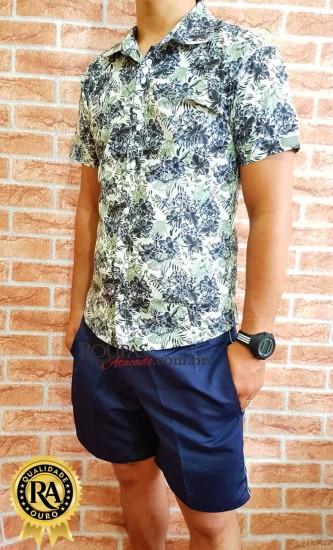 Camisa Social Masculina Floral