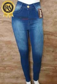 Calça jeans feminina cintura alta