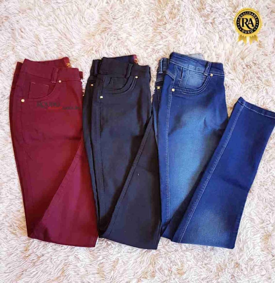 9574b042ab Calça Jeans Feminina Colorida atacado
