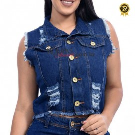 Colete Jeans Feminino Klys