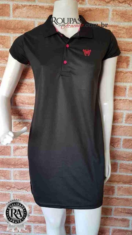 49461d30622b14 Vestido Gola Polo Feminino Adulto - Roupas Para Atacado