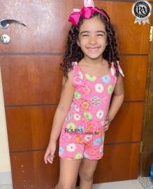 Macacão Infantil Feminino Estampado 3 a 5 anos vários modelos