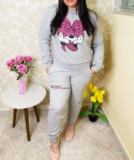 Conjunto Feminino Moletom Calça E Blusa