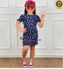 Vestido Infantil Manga Lacinho Marisol