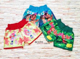 Short Infantil Feminino Personagem