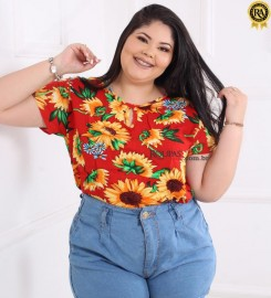 Blusa Feminina Em Viscose Plus Size