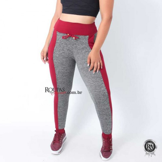 Calça Fitness Feminina em Suplex Mescla