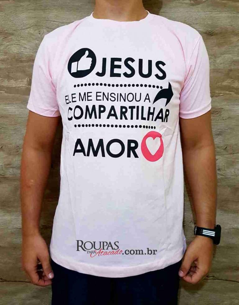 5b428933d56c3 Camisa Masculina Algodão Com Frases Evangélicas - Roupas Para Atacado