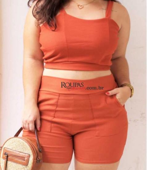 Conjunto Feminino Bengaline Plus Size