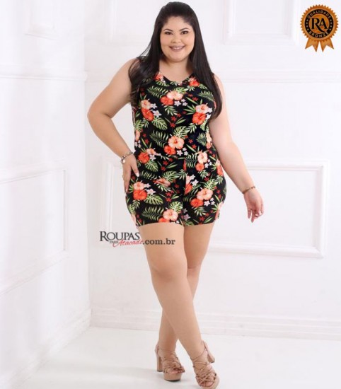 Macaquito Liganete feminino Plus Size GG