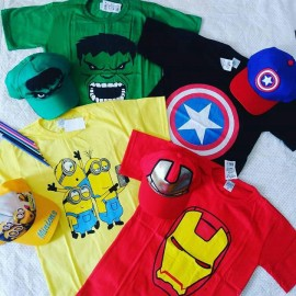 Camisa Algodão Infantil Personagens 3 a 9 anos