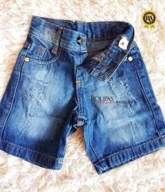 Bermuda Jeans Infantil Masculina 1 a 3 anos