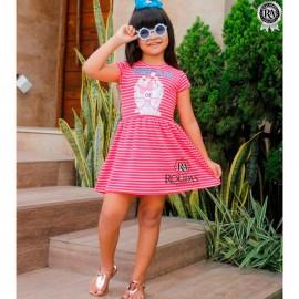 Vestido Infantil Listrado Vários Modelos