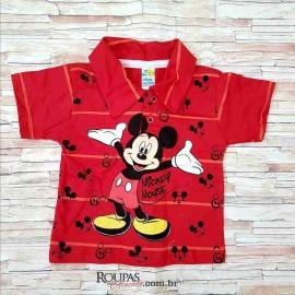 Camisa Polo Infantil Listrada com Aplicações