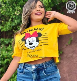 Blusa Cropped Fitness Estampada