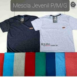 Camiseta Mescla Juvenil Masculina