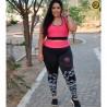 Conjunto Fitness com Detalhes Plus Size