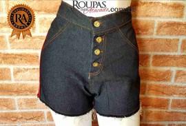 Short Jeans Curto Cintura Alta Feminino Basic