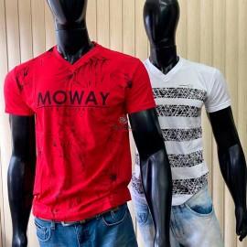 Camiseta Algodão Masculina Gola V