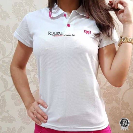 Blusa Polo Feminina Piquet