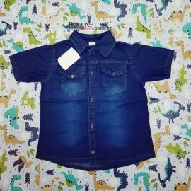 Camisa Social Jeans Infantil