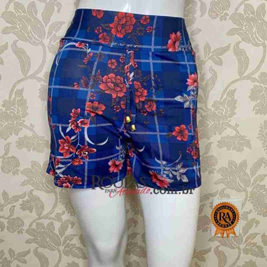 Short Estampado Feminino Adulto Leila