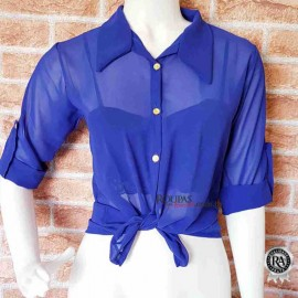 Blusa transparente Feminina Lisa