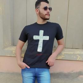 Camisa Masculina Algodão Com Frases Evangélicas