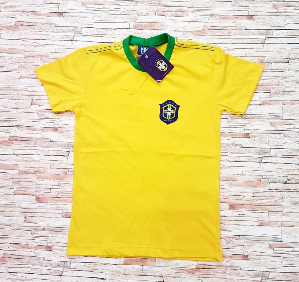 Camisa Infantil Brasil Algodão Masculina - Roupas Para Atacado 4221a68a86a93