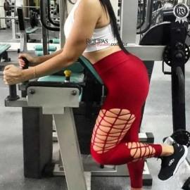 Calça Legging Suplex Lisa Corte a Laser