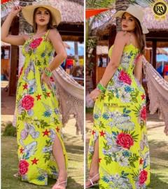 Vestido Longo Feminino Viscose Vários Modelos