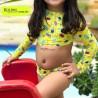 Biquini infantil manga longa Estampado