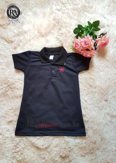 f190ed06037ad7 Vestido Gola Polo Infantil Feminino Piquet - Roupas Para Atacado