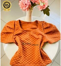 Blusa Cropped Feminina Em Matelassê
