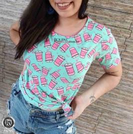Blusa T-Shirt Estampada Feminina
